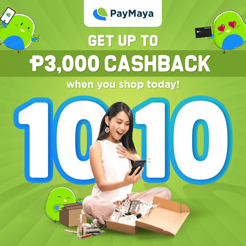 Cashback and other perks when using Paymaya this coming 10.10 sale