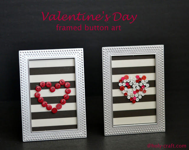buttons and scrapbook paper hearts