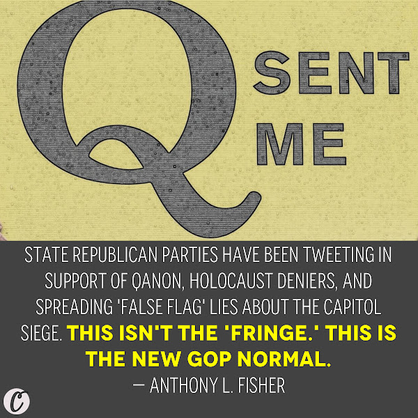 State Republican parties have been tweeting in support of QAnon, Holocaust deniers, and spreading 'false flag' lies about the Capitol siege. This isn't the 'fringe.' This is the new GOP normal. — Anthony L. Fisher, Business Insider Politics Columnist