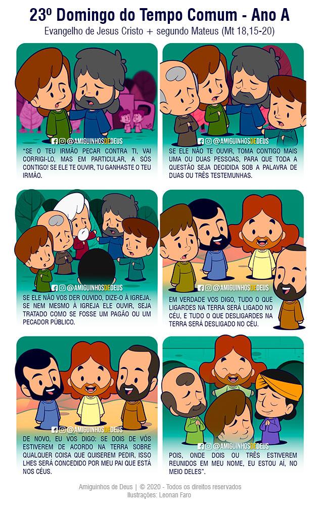 evangelho Mateus 18,15-20 desenho