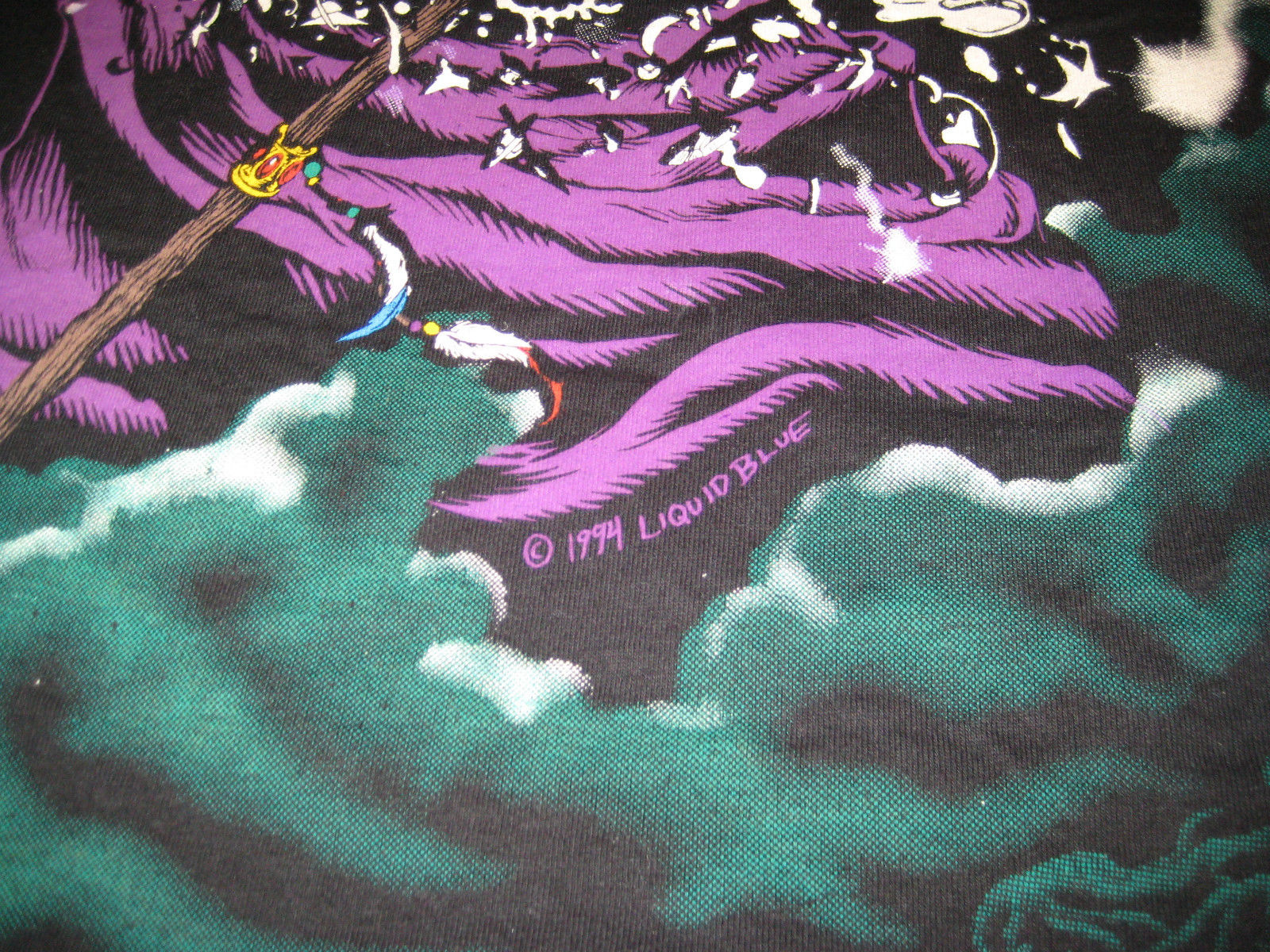 vintage 1994 wild liquid blue the wizard t shirt vintage t shirt