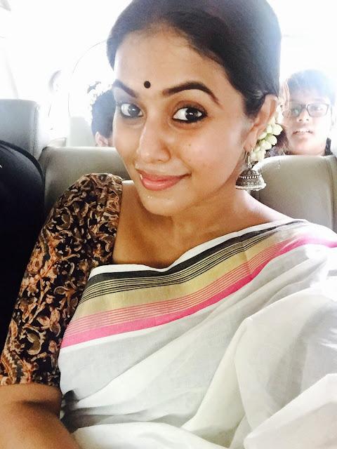 Actress Poorna celebrating onam festival