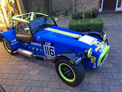 My 2017 Caterham Academy Car with Sponsorship Decals fitted and Sprint Race Number
