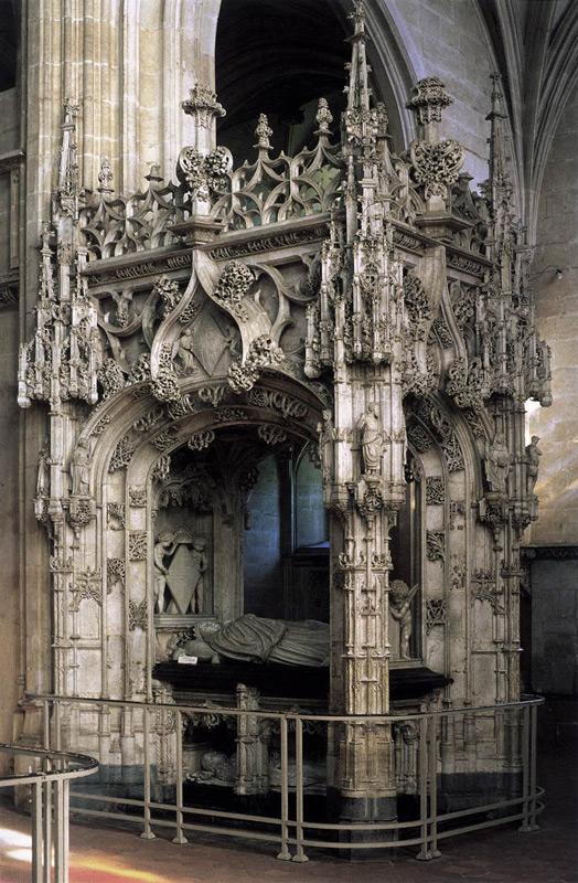 Transi tumba doble de Margarita de Austria