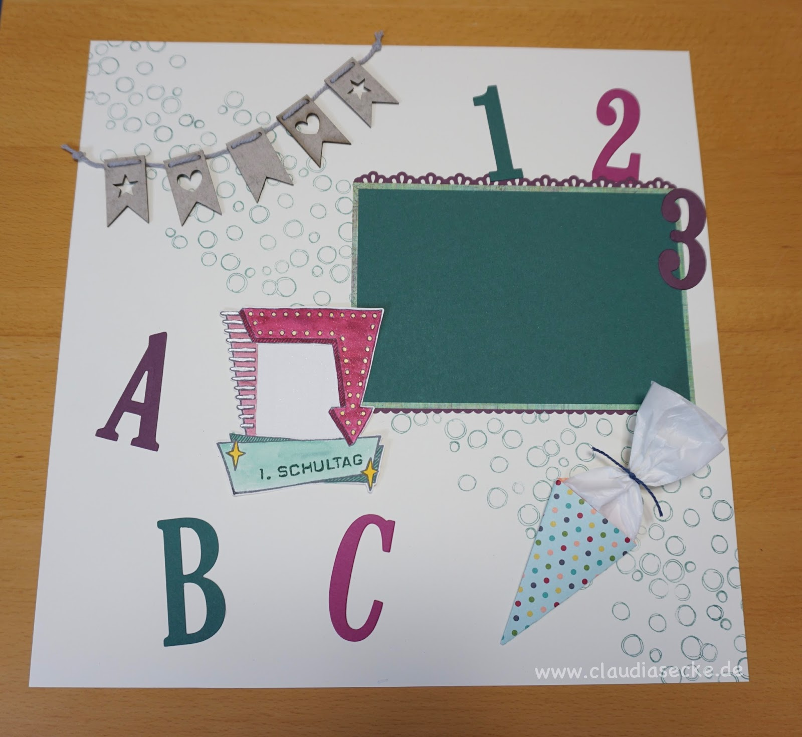 Claudias Creativ Club: Scrapbook Layout zur Einschulung