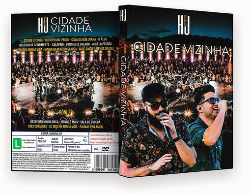 HENRIQUE E JULIANO CIDADE VIZINHA DVD-R 2018