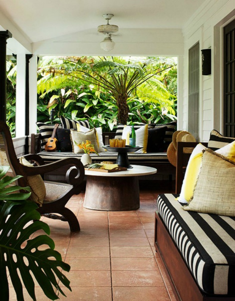 Coastal, tropical outdoor space