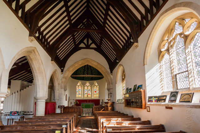 St Peter's in Filkins Oxfordshire church interior by Martyn Ferry Photography