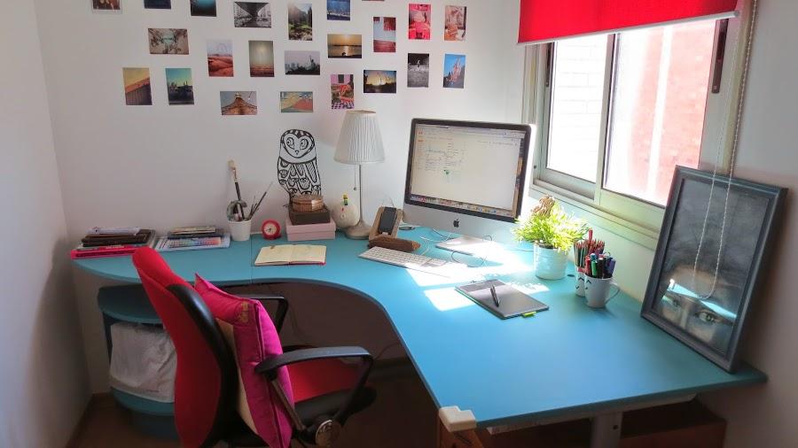 Decora tu escritorio for Mesas para estudiar