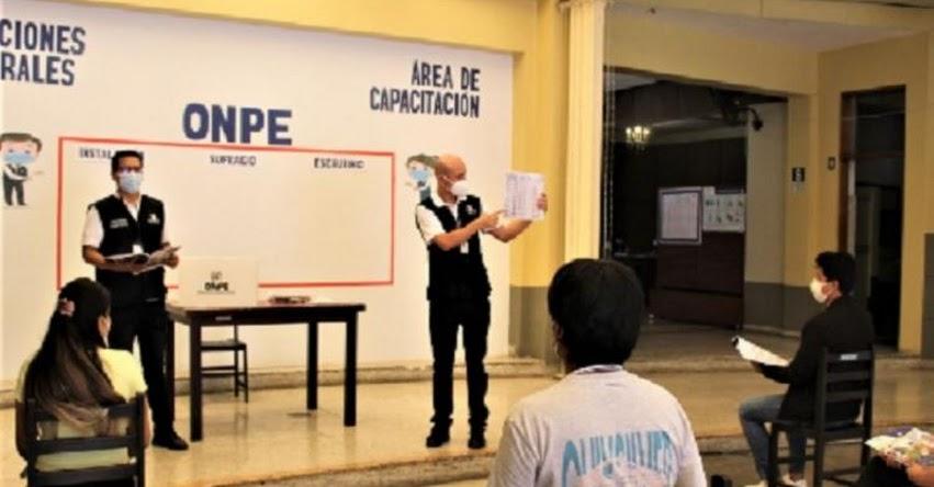 ELECCIONES 2021: Más de 160 mil miembros de mesa fueron capacitados, afirma ONPE