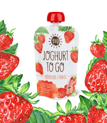 Watercolor Strawberries illustration on Food Packaging design artist illustrator Irina Sztukowski