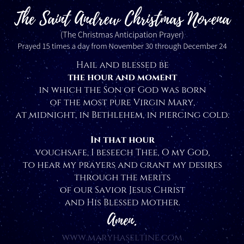 photograph regarding St Andrew Novena Printable named The Saint Andrew Xmas Novenaand Delivery (with absolutely free