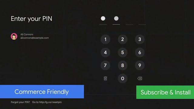AndroidTV pagos con PIN