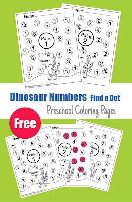 dinosaur preschool free printable coloring pages for preschoolers dot activity