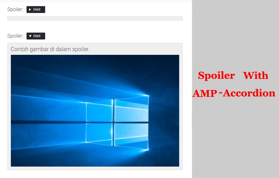 Membuat Spoiler Untuk Blog AMP HTML