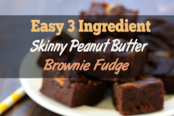 Easy 3 Ingredient Skinny Peanut Butter Brownie Fudge