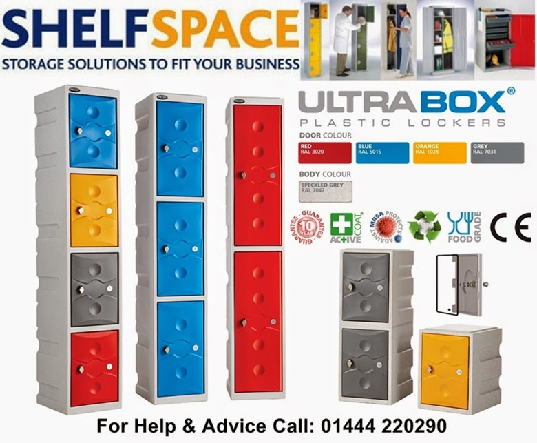 Ultra Box Plastic Lockers For Wet Areas, Changing Rooms, School Lockers Both Inside and Out