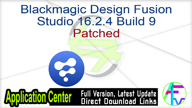 Blackmagic Design Fusion Studio 16.2.4 Build 9 Patched