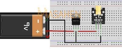 Contoh Rangkaian Penggunaan IC 7805