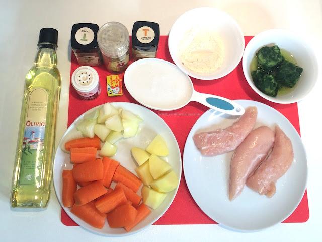 Chicken Spinach Soup ingredients Yvonne Dzifa www.yvonnedzifa.com