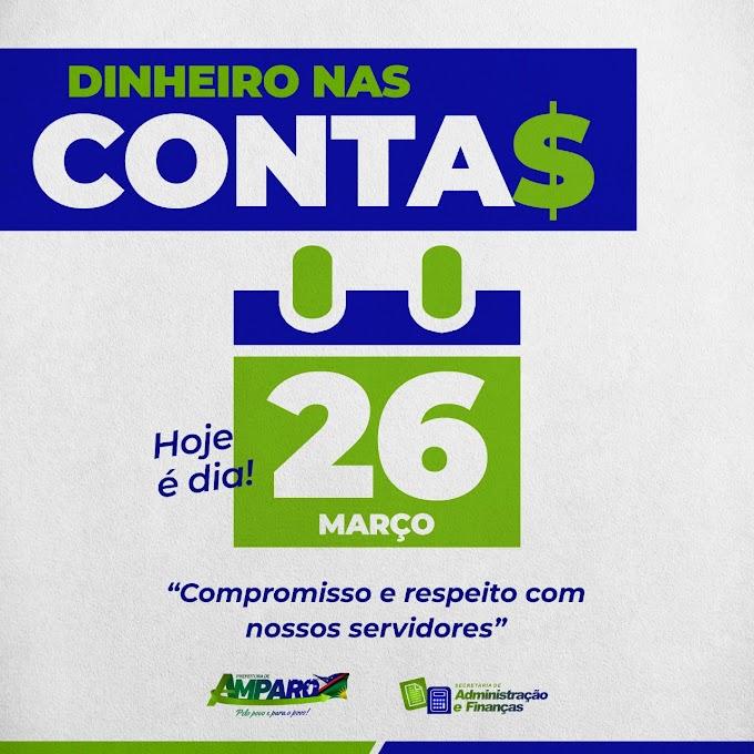 Prefeitura de Amparo realizou pagamento dos servidores nesta sexta-feira