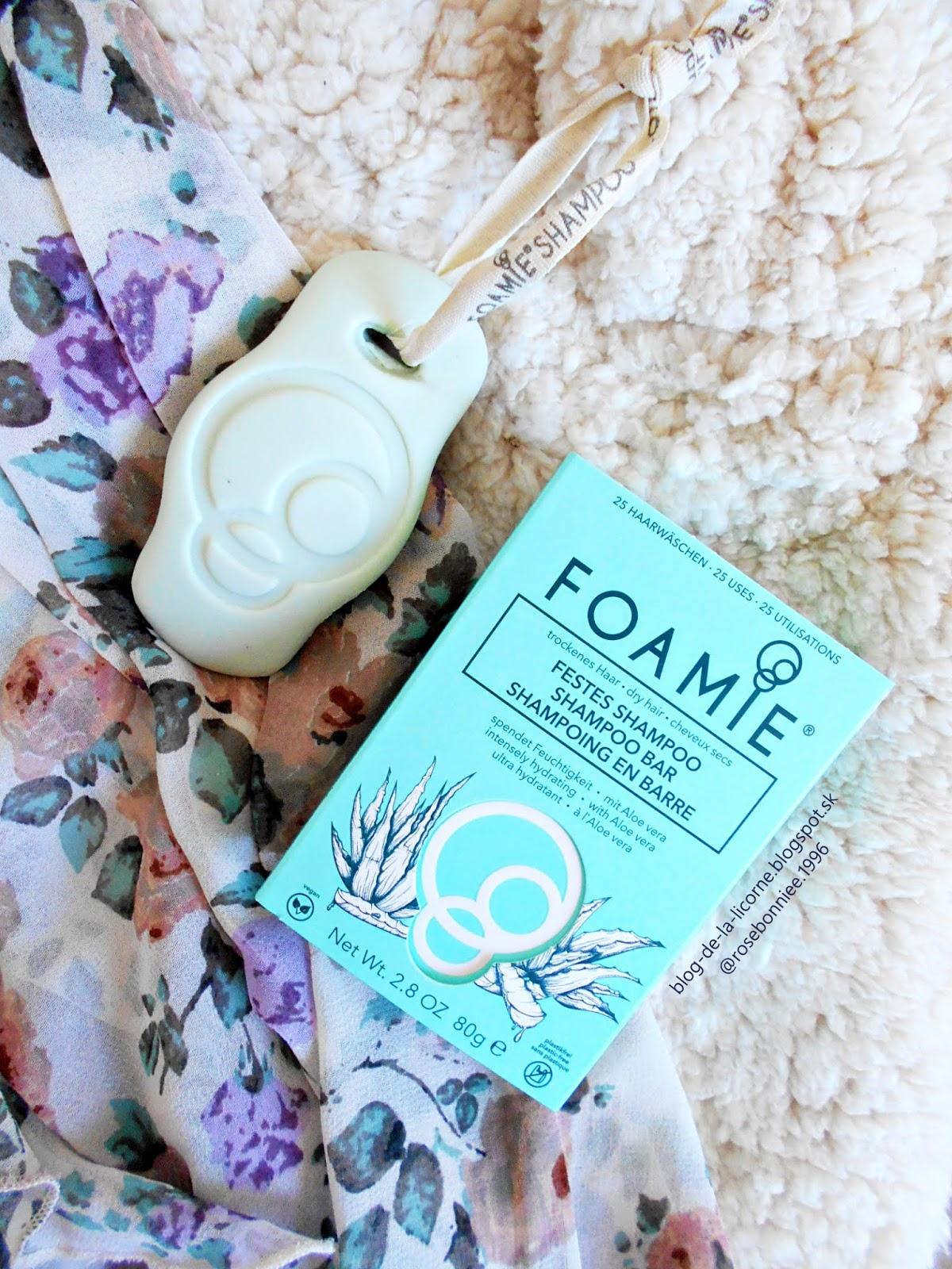 Foamie Aloe You Vera Much organický tuhý šampón recenzia