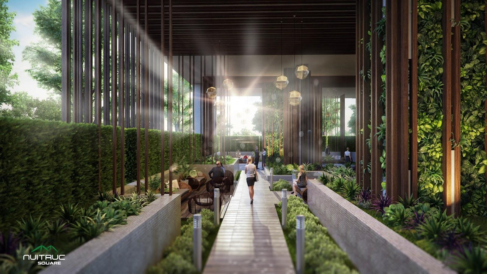 Không gian xanh của chung cư Núi Trúc