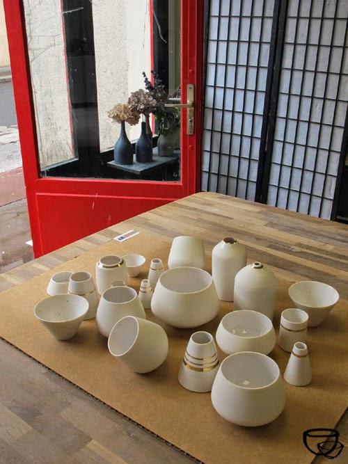 """Créations de """" No ceramic """" réalisées à l'Argilerie en atelier partagé."""