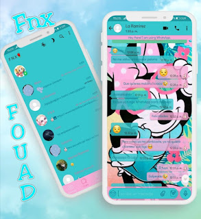 Minnie Blue Theme For YOWhatsApp & Fouad WhatsApp By Ave fénix