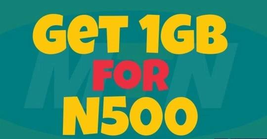 500 500mb mtn for naira