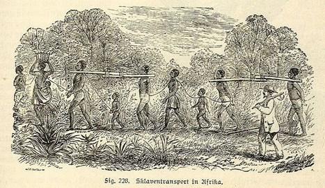Trasporto degli schiavi - Miniatura del XIX secolo