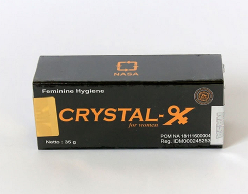 crystal x asli, gurah vagina, obat herbal keputihan