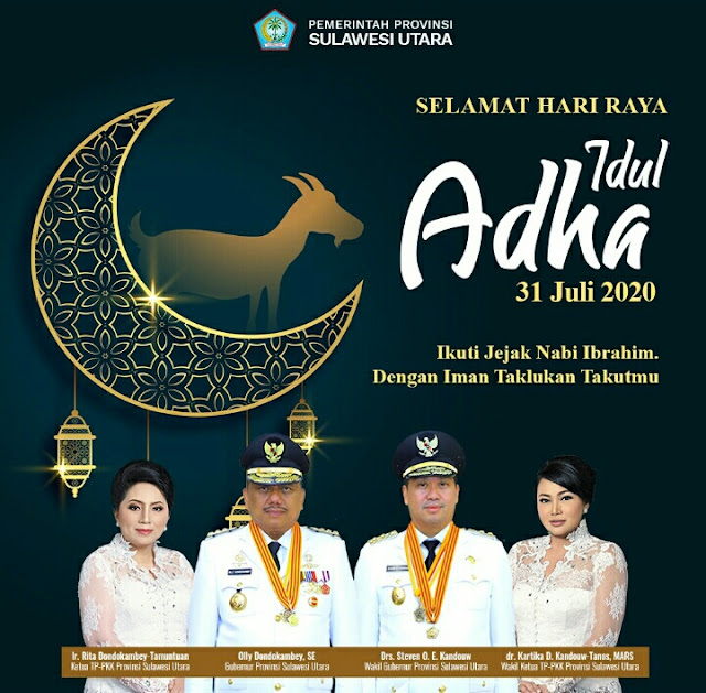 Gubernur : Selamat Idul Adha Bagi Umat Muslim di Sulut