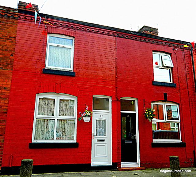 Casa de George Harrison em Arnold Grove, Liverpool, Inglaterra