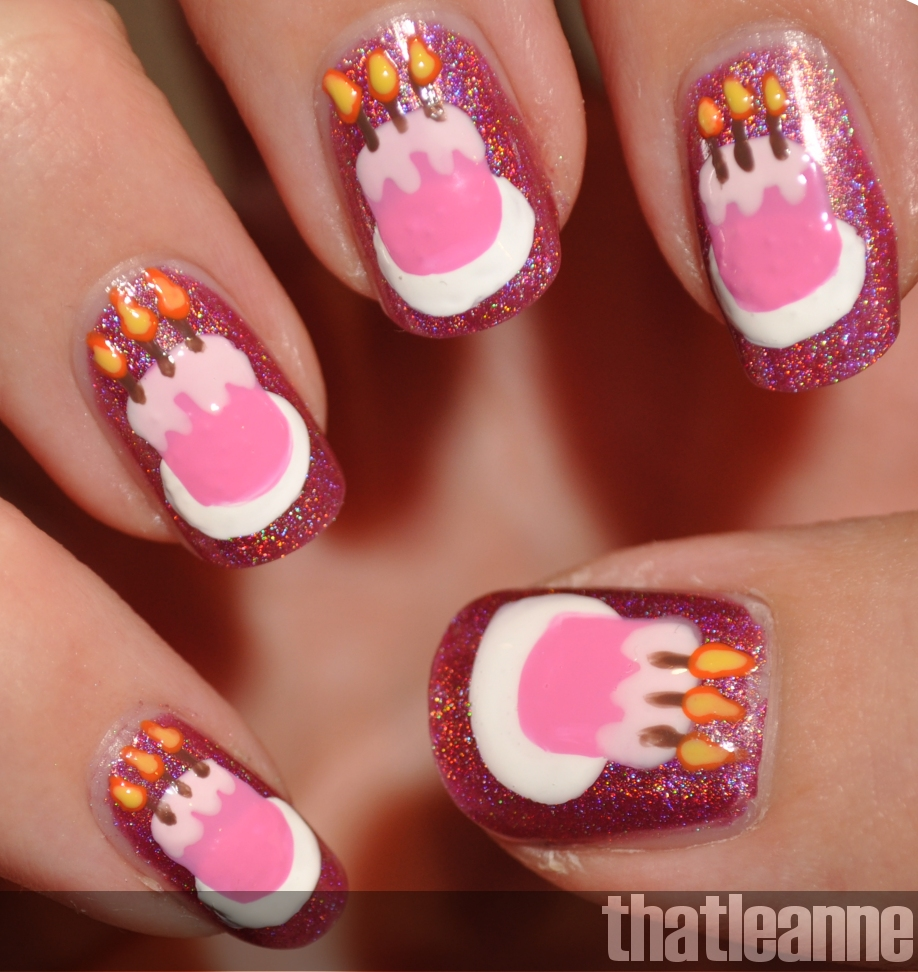 Nail Cake: Thatleanne: Birthday Cake Nail Art Feat. OPI DS Signature