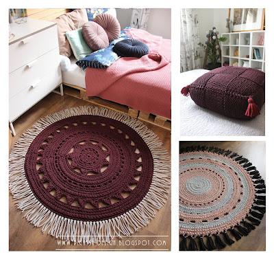 Sznurkowy dywan boho