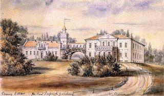 Pałac w Czarnym Ostrowie wg Napoleona Ordy - 1872