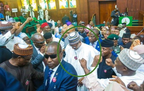 Drama Ensues As Buhari Storms House Of Assembly  Yesterday