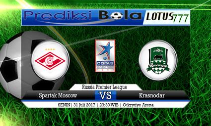 Prediksi Pertandingan antara Spartak Moscow vs Krasnodar Tanggal 31 Juli 2017