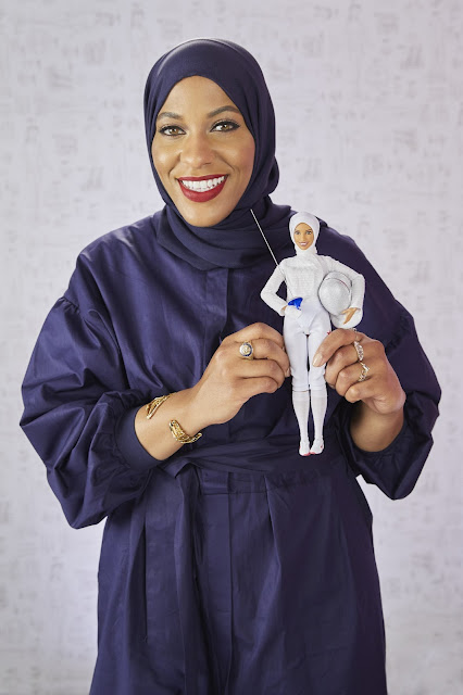 Barbie honors Ibtihaj Muhammad as a Barbie Shero with one-of-a-kind doll in her likeness at the Glamour Women Of The Year LIVE Summit