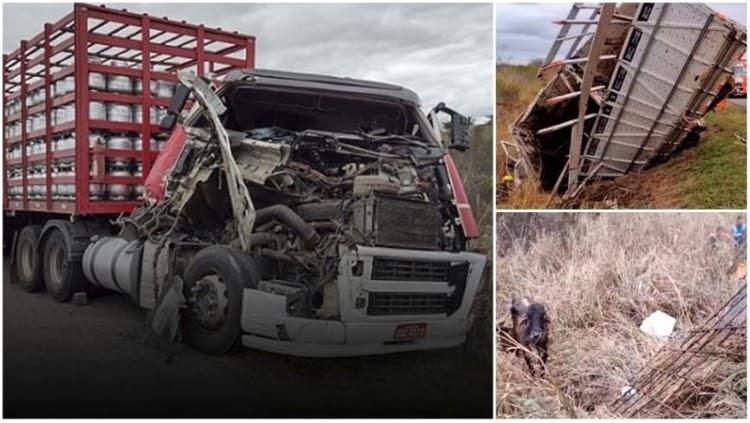 Duas pessoas ficam presas em ferragens após acidente entre Planalto e Poções