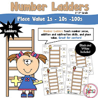 1s 10s 100s Number Ladders