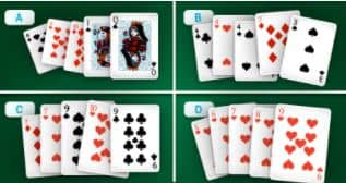 So, what you're going to have to do here is pick the strongest hand to move forward with. Understanding which of these hands is the winner will allow you to progress and dominate the table!