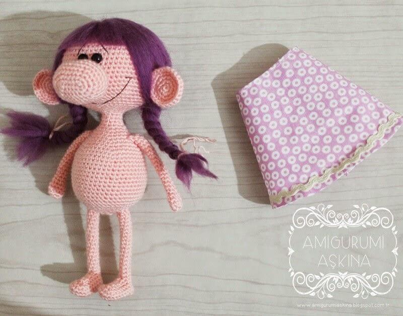 Amigurumi Bebek Tarifleri : Koca burunlu minik kız yapılışı free amigurumi doll pattern