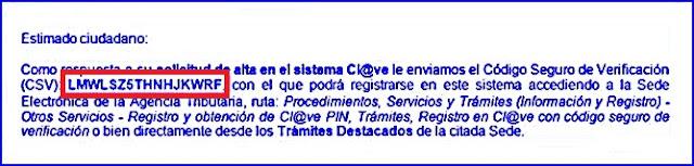 Sistema cl@ve PIN