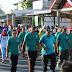 Meriahkan HUT Ke 17, Bupati Choirul Huda Jalan Santai Bersama