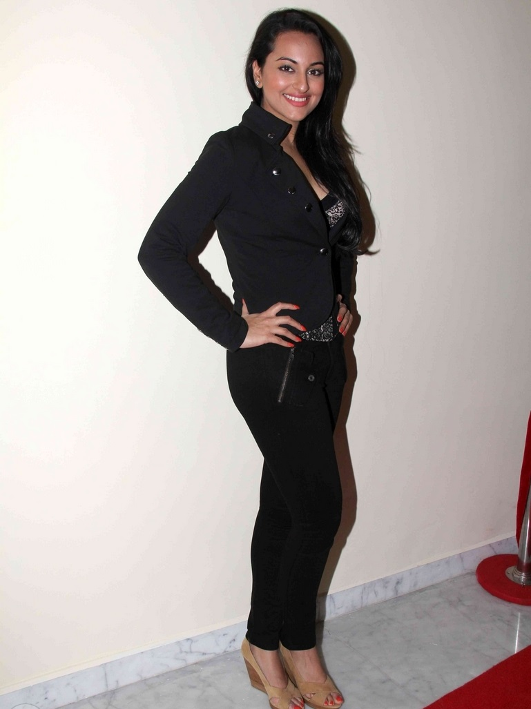 Bollywood Actress Sonakshi Sinha Photo shoot In Black Suit
