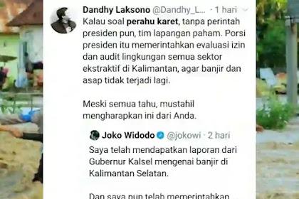 Jokowi Disentil Keras Soal Perahu Karet untuk Banjir Kalimantan