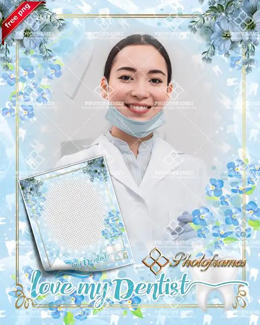 marco para fotos para el día del odontólogo o dentista