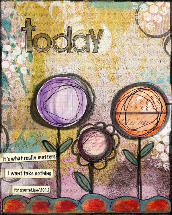 2 Worlds Mixed Media Canvas +digital Art Journal